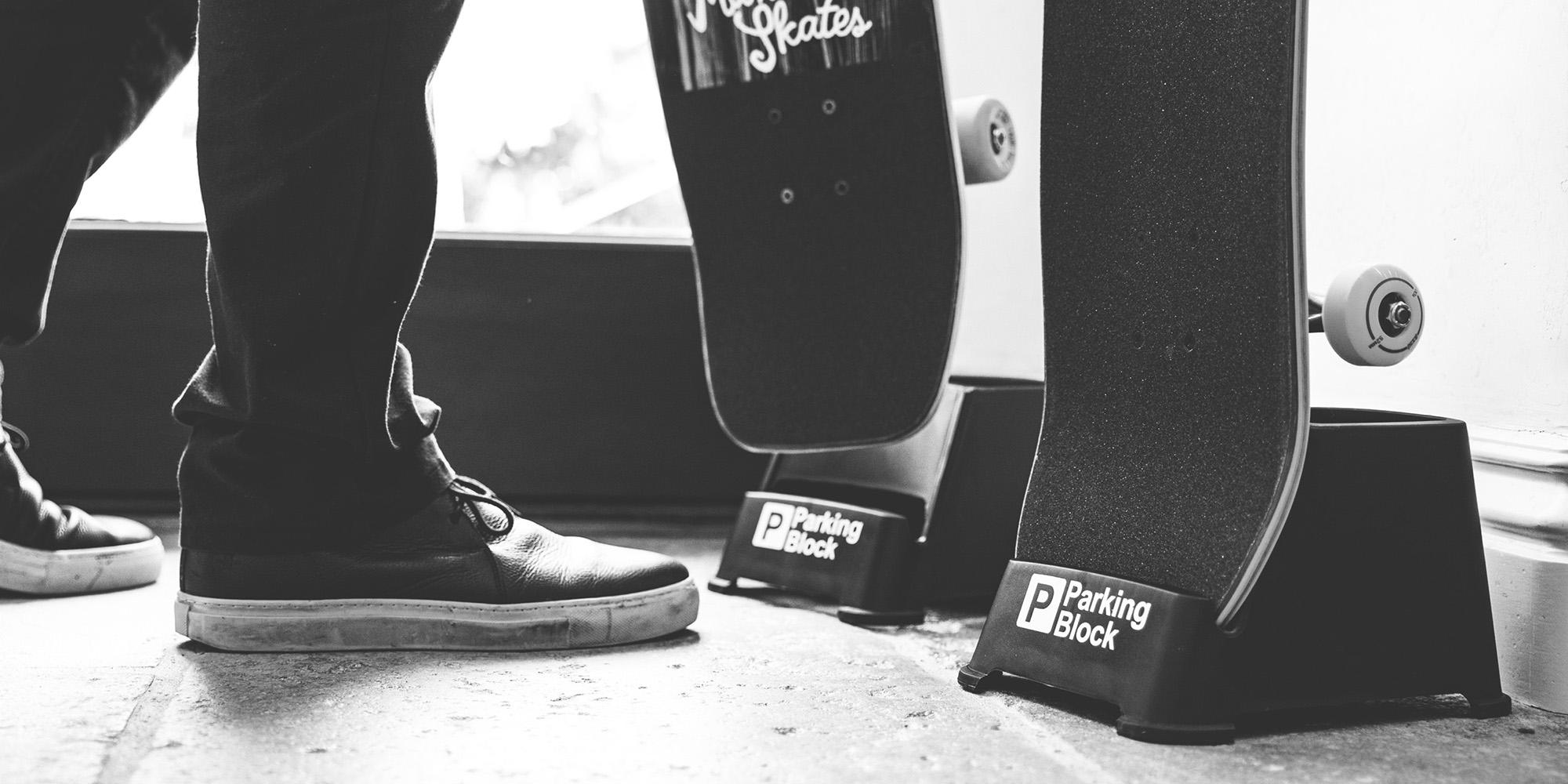 Parking Block – Skateboard Stands